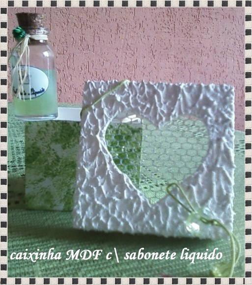 caixinha MDF com sabonete l�quido