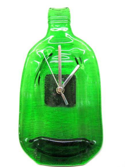 Rel�gio de Garrafa / Bottle Glass Clock