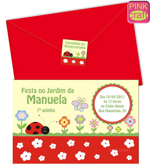 Convite Jardim! Cod. M011