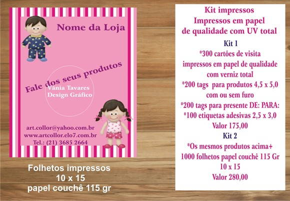 Kit impressos ( Arte exclusiva)