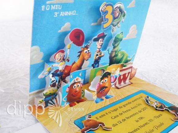 Convite Toy Story POP UP