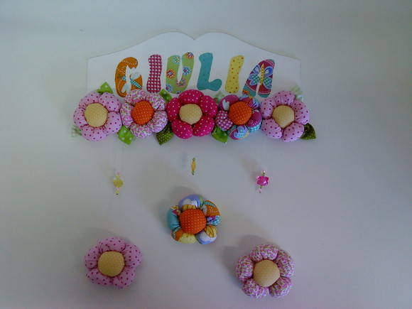 PLAQUINHA COM FLORES - GIULIA