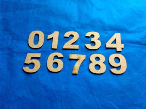 RECORTE A LASER NUMEROS PEQUENOS 5 cm