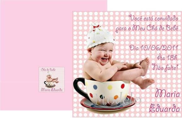 Convite Ch� de Beb�
