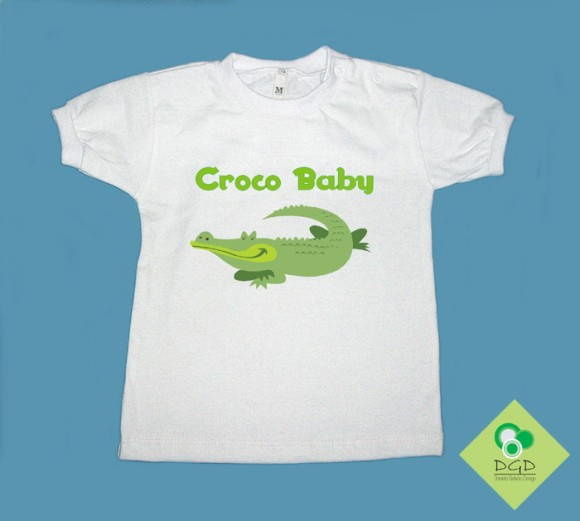T-Shirt Beb e Infantil CROCO BABY