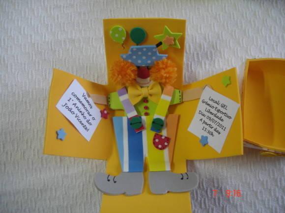 Convite Caixinha De Palhaço Tema Da Festa B Palhaços B Pictures to