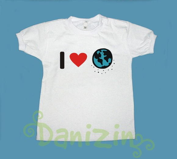 T- Shirt Beb� e Infantil I ♥ MY PLANET