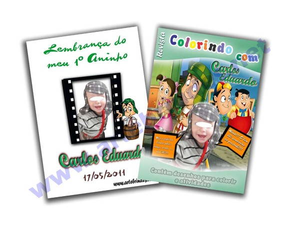 Revista personalizada Turma do Chaves