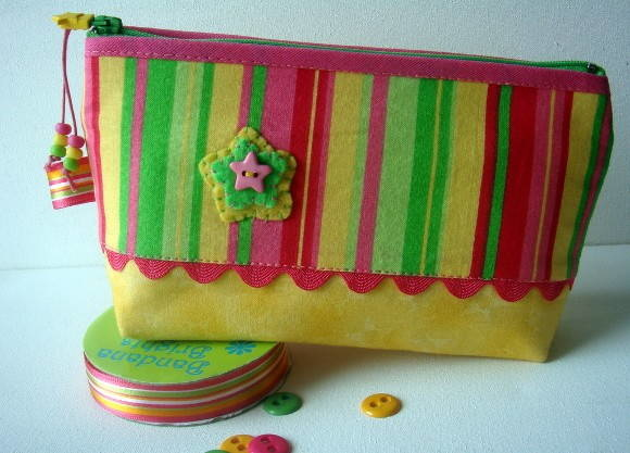 Necess�rie Star pink-green-yellow P