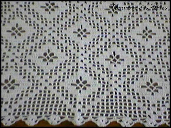 Toalha quadrada em croch�