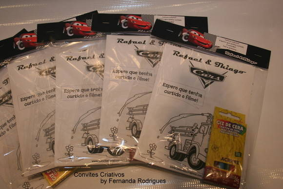 Kit para Colorir - Carros Disney