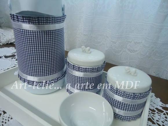 Kit de higiene em porcelana