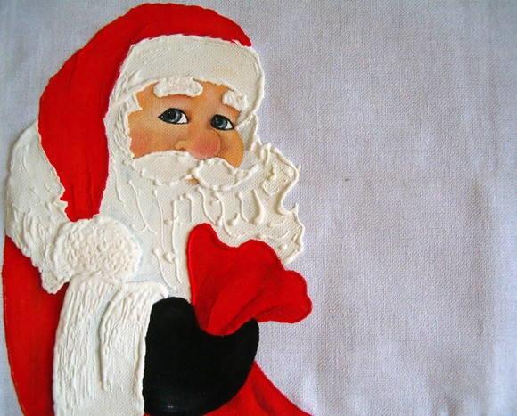 Pano de Copa Natal - Papai Noel