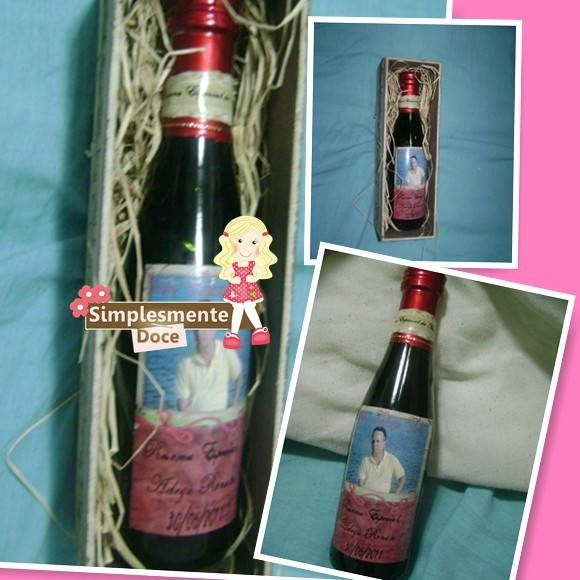 Caixa Mini de Vinho Personalizado
