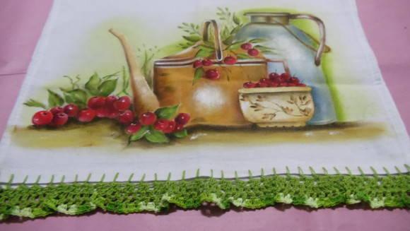 Pintura em tecido,pano de prato