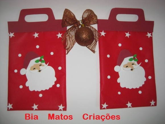 Sacola lembrancinhas Natal-Papai Noel