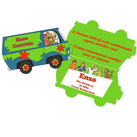 Convite Scooby Doo