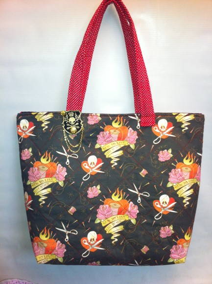 Bolsa tecido importado, Estilo ED HARDY
