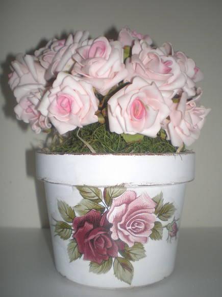 arranjo de flores vintage