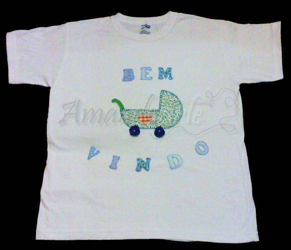 Camiseta Mam�e Patchwork