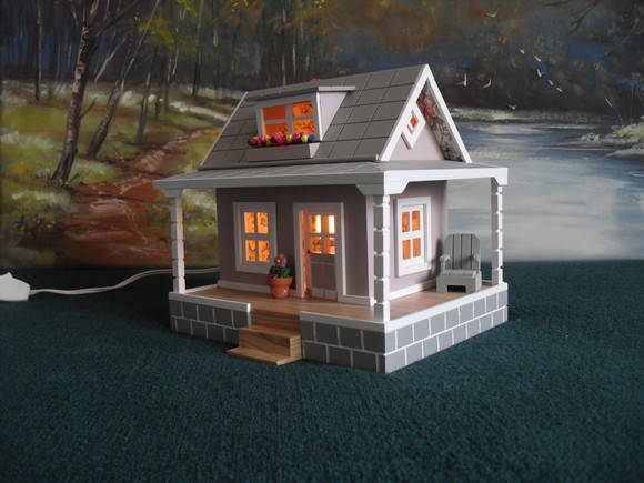 Casinha Miniatura Luminria