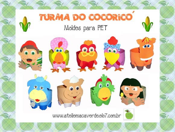 MOLDE TURMA DO COCORIC� NA PET