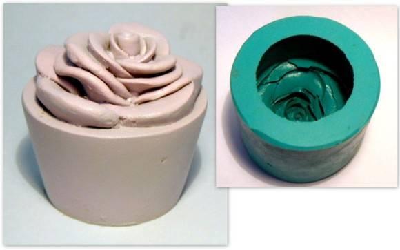 Molde de silicone - Velas - Vaso Rosa