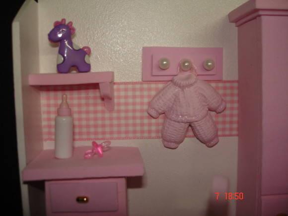 Guirlanda Cenario Quarto de Bebê Rosa Pano e Pedra  ~ Quarto Rosa Pedra
