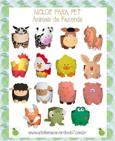 MOLDE ANIMAIS DA FAZENDA PARA PET