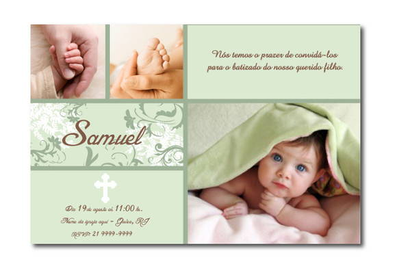 Convite de Batizado Samuel