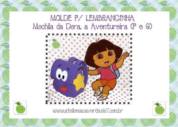 Bolsas E Carteiras   Mochila   MOLDE PARA LEMBRANCINHA MOCHILA DA DORA