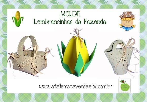 MOLDE LEMBRANCINHAS DA FAZENDA