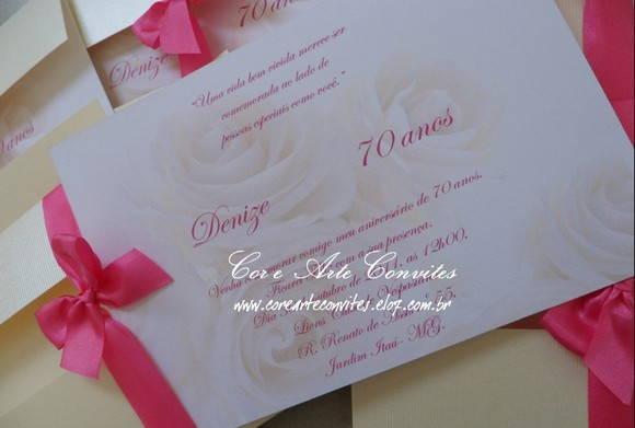 Convite Aniversario 70 Anos Feminino Convite-rosas-70-anos