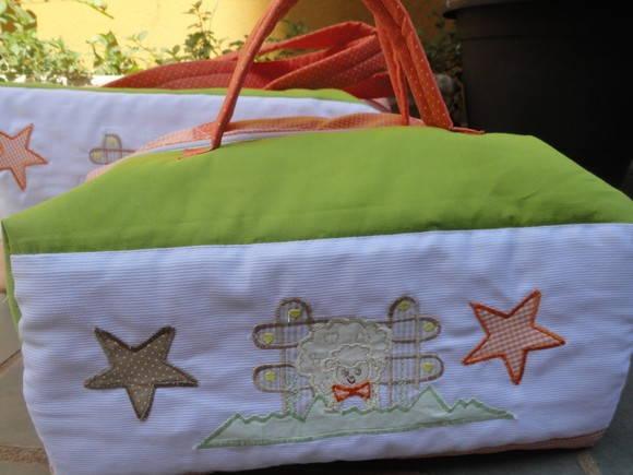 Bolsa De Tecido Bebe : Bolsa em tecido para beb? oficina do retalho elo