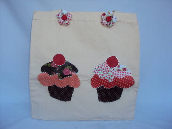 Eco Bag Patch Apliqu� Cupcakes