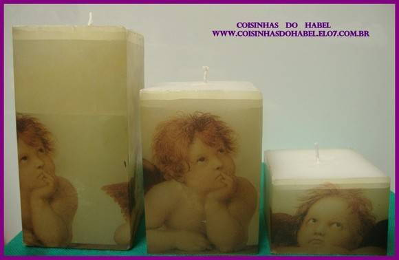 trio de velas angel