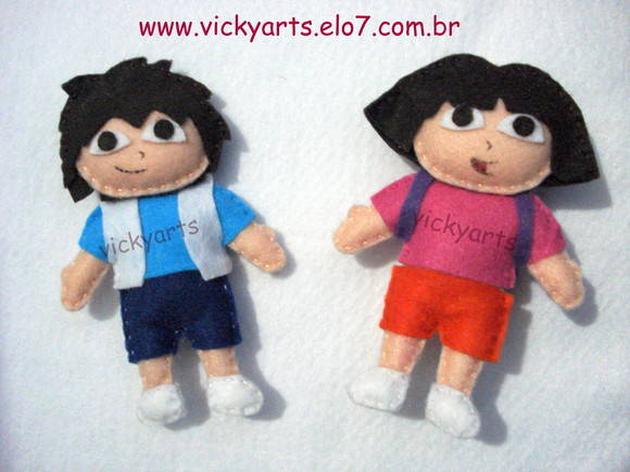 Dora a aventureira ou Diego em feltro
