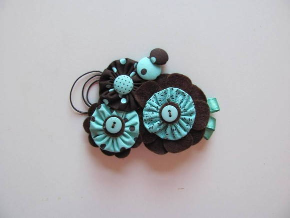 Broche Acqua & Brown