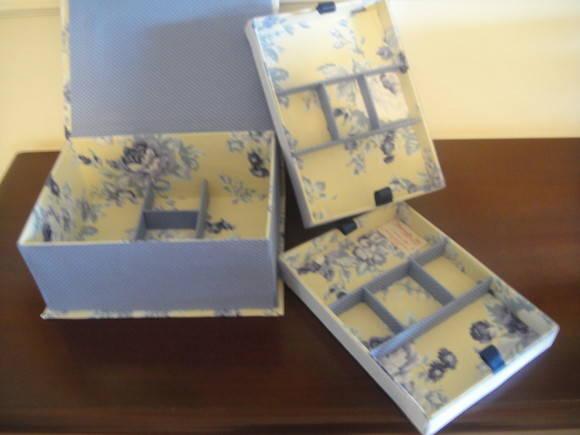 Caixa porta joias em cartonagem