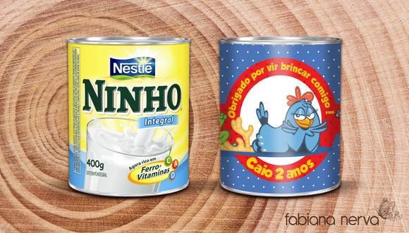 Personalizadas Infantis   R  Tulo Para Lata De Leite Ninho 800g