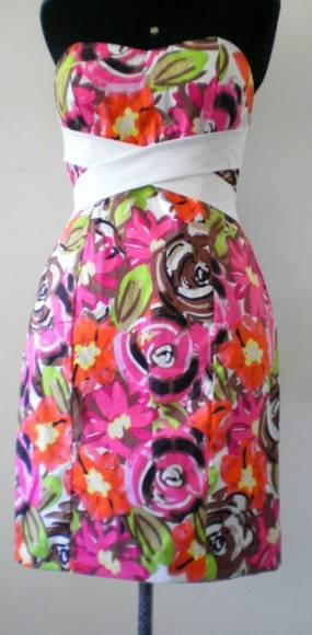 Vestido Tubinho Algodo Strech Estampado