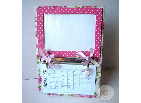 Porta Retrato com Calendrio - Rose