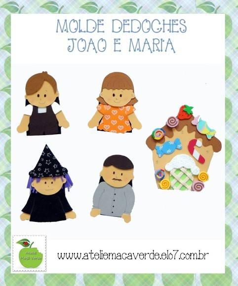 MOLDE DEDOCHES JOÃO E MARIA - EVA