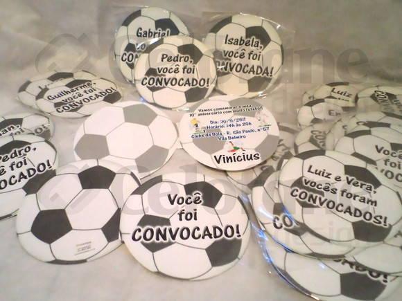 Convite Em Formato De Bola De Futebol  Tamanho M  Dio 15 Cm De