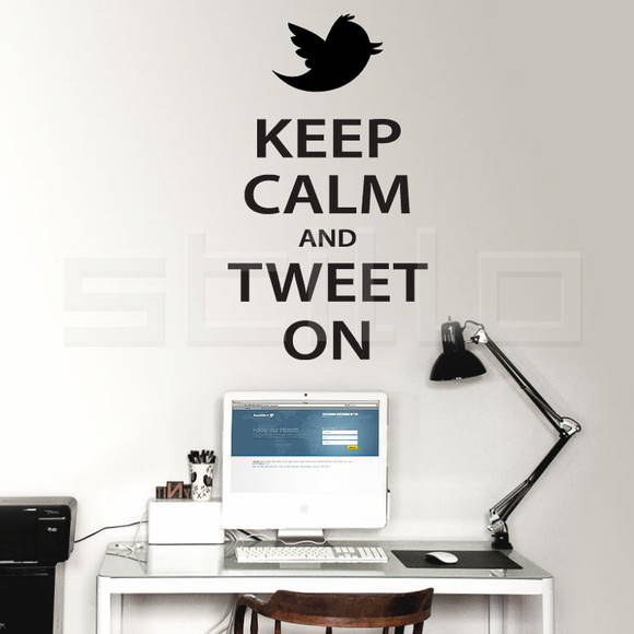 Adesivo Keep Calm and Tweet On