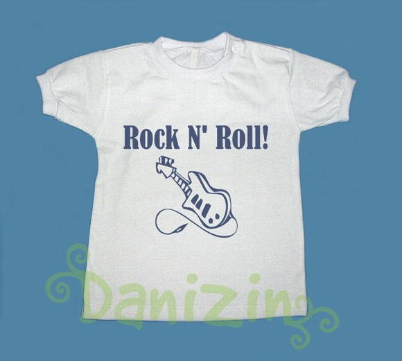 T-Shirt Beb� e Infantil ROCK N' ROLL