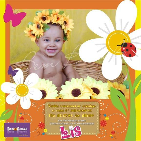 Convite Infantil Jardim Encantado R   2 20 Convite Infantil Jardim