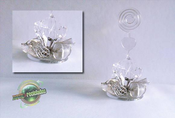 Lembran a bodas de diamante 2 arte reciclados elo7 - Baldas de cristal ...