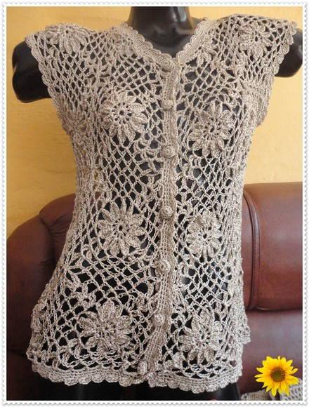 Blusa de Crochê Flores | Art Flora | Elo7