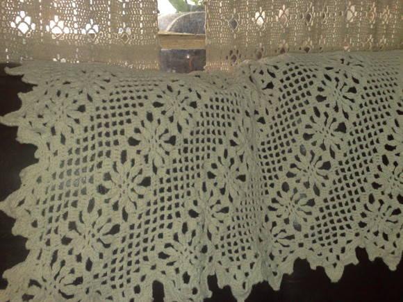Manta de croch para sof crochet fashion elo7 - Manta para sofa ...